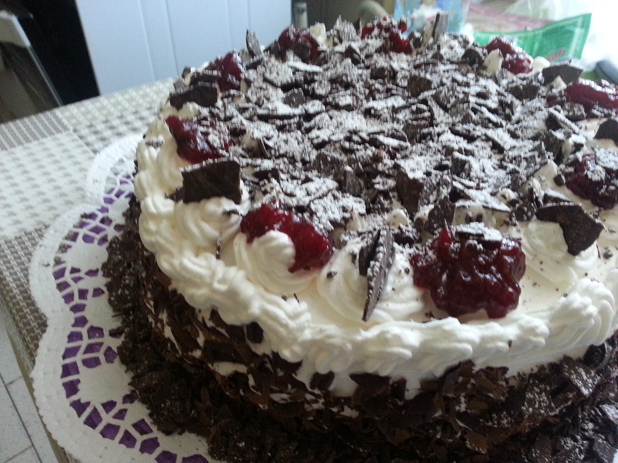 Black Forest Cake Shared By Erwin Corcega Kain Klab