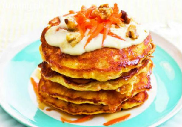 Carrot Cake Pancakes With Maple Cream Cheese Glaze | Kain Klab