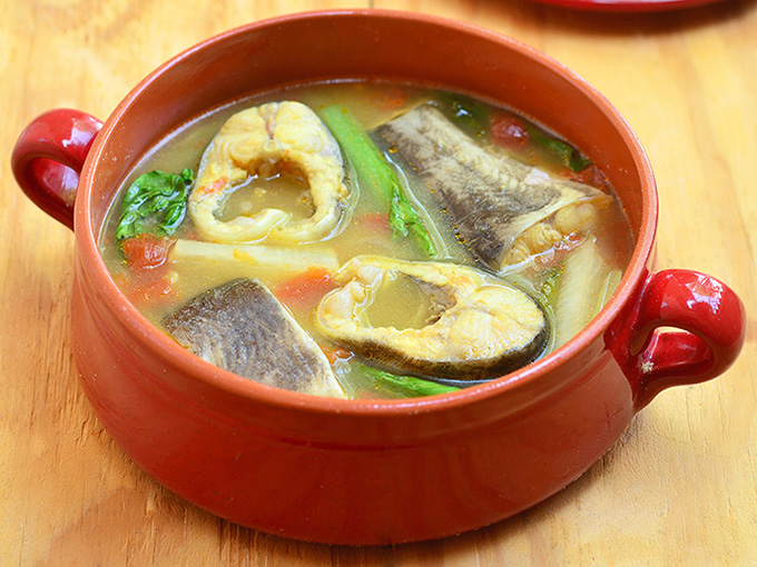 Sinigang na hito sa miso kain klab for Miso sauce for fish