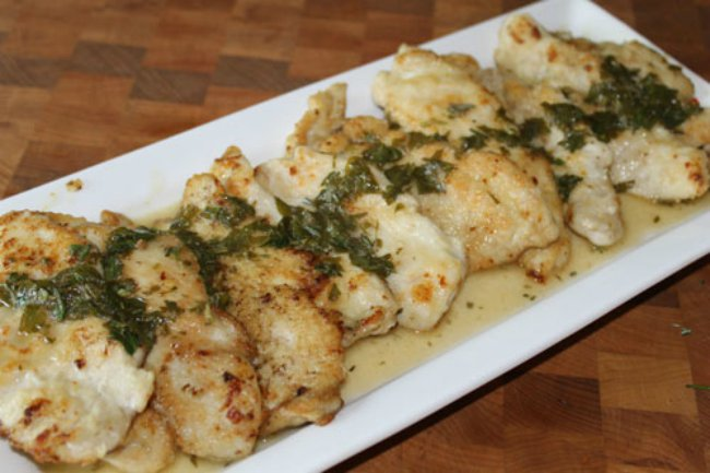 Chicken Cutlets with Herbed Butter Sauce